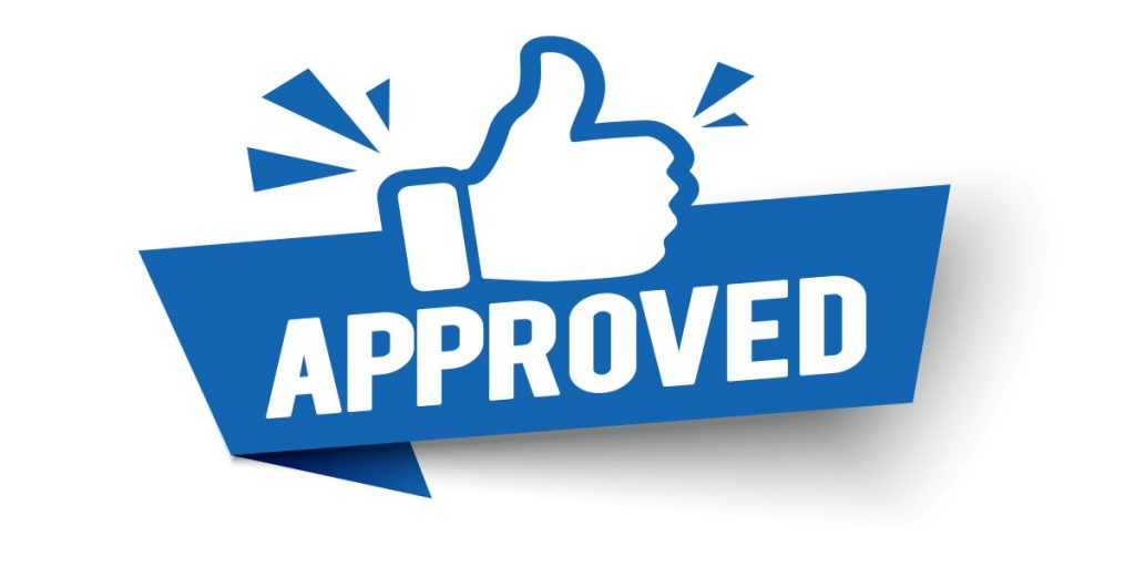 Approved thumbs up